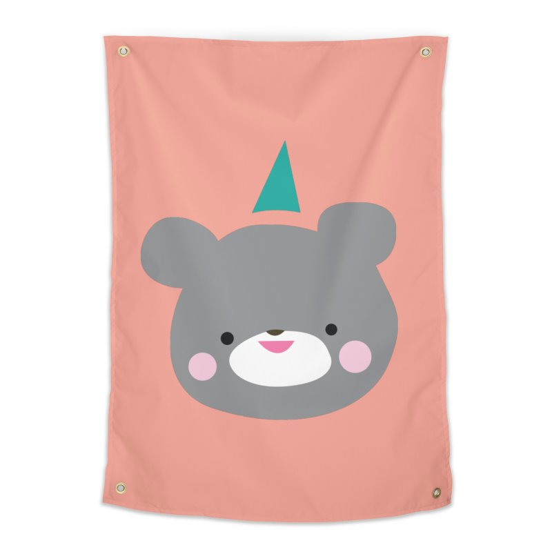 Party Bear Home Tapestry by Ginger's Shop