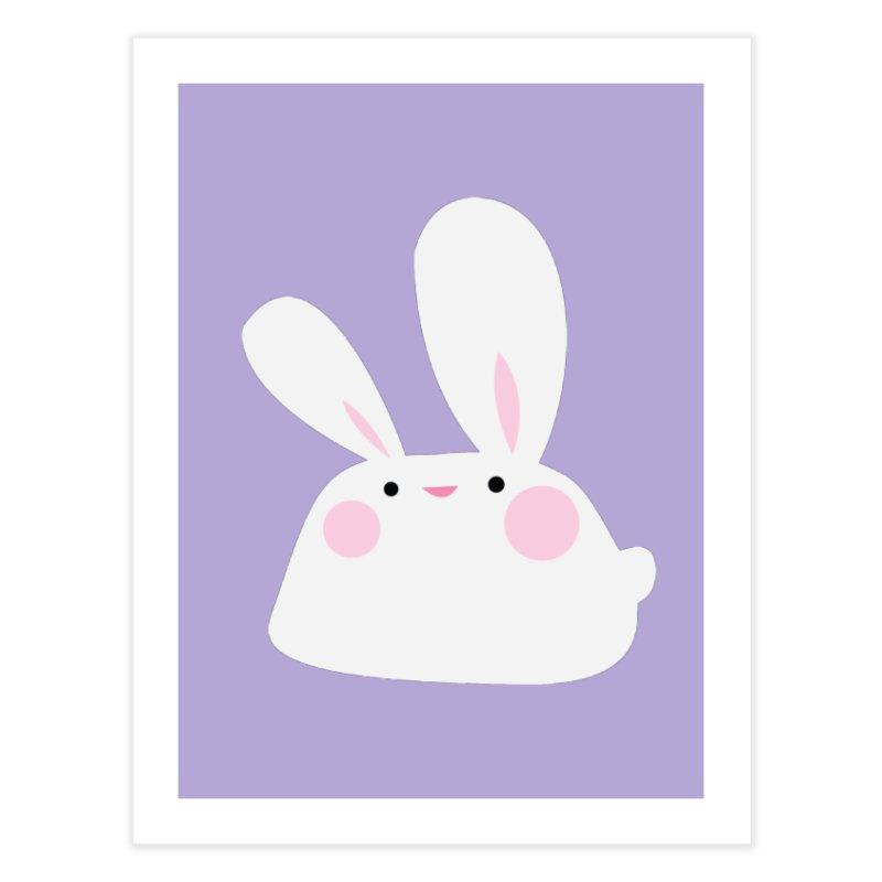 Party Bunny Home Fine Art Print by Ginger's Shop