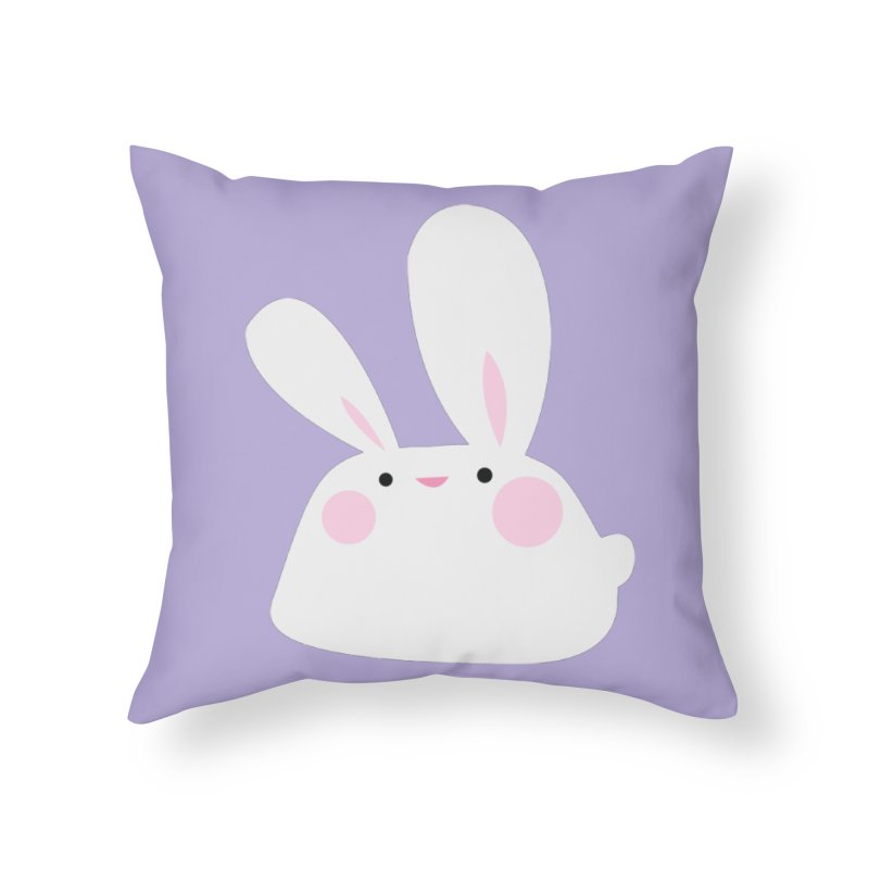 Party Bunny Home Throw Pillow by Ginger's Shop