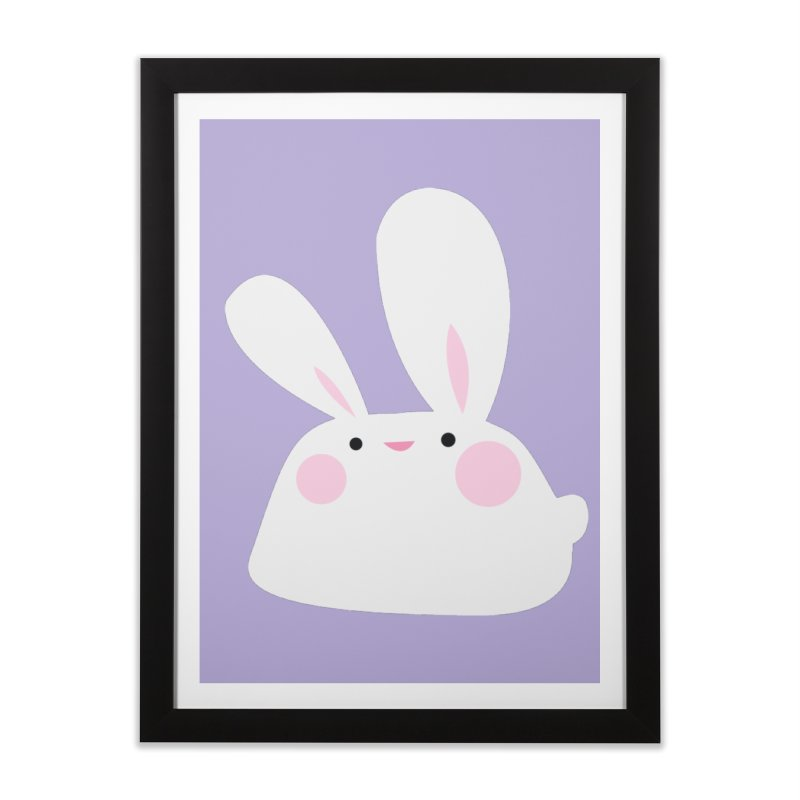 Party Bunny Home Framed Fine Art Print by Ginger's Shop