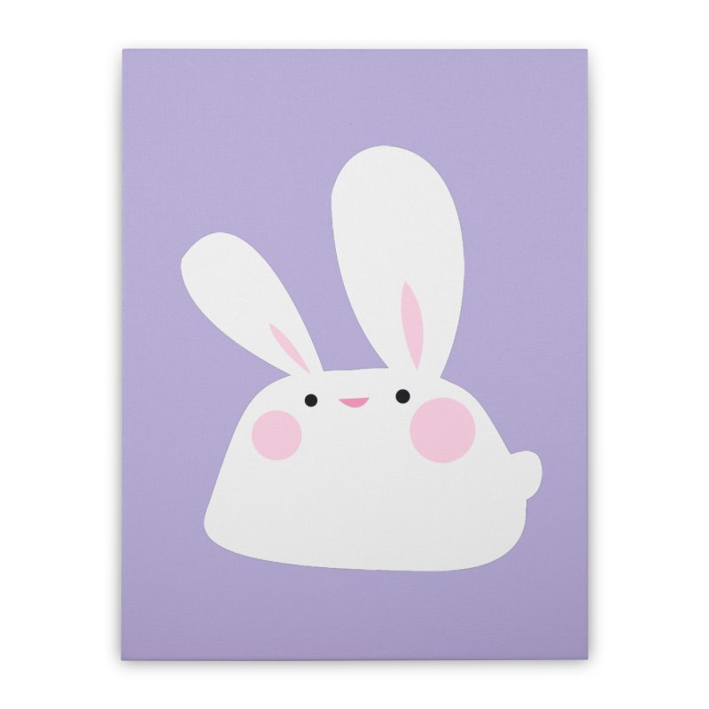 Party Bunny Home Stretched Canvas by Ginger's Shop