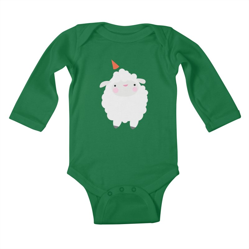 Party Lamb Kids Baby Longsleeve Bodysuit by Ginger's Shop