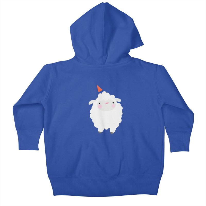Party Lamb Kids Baby Zip-Up Hoody by Ginger's Shop