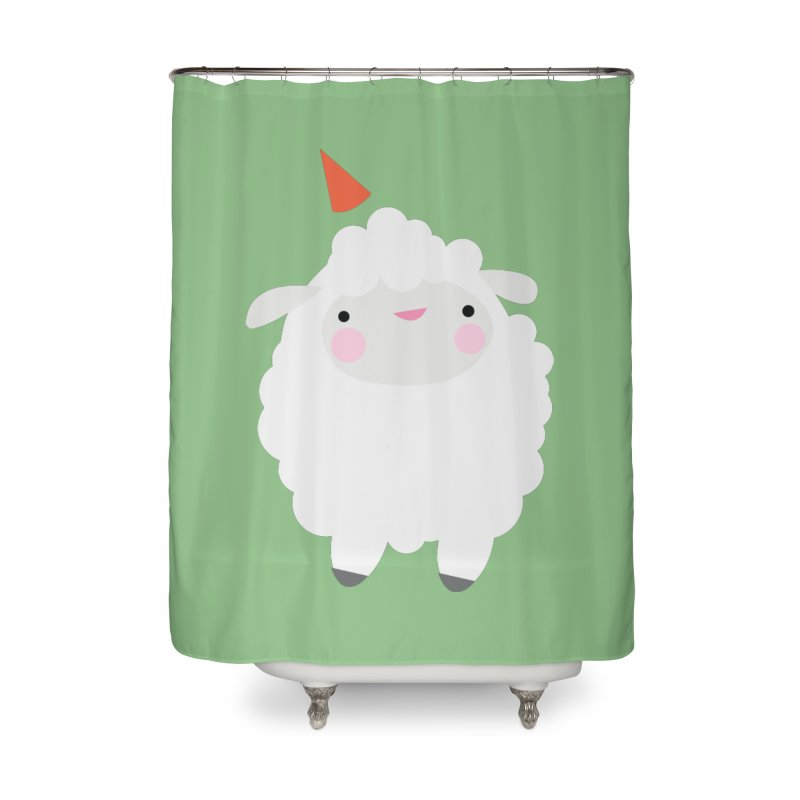 Party Lamb Home Shower Curtain by Ginger's Shop