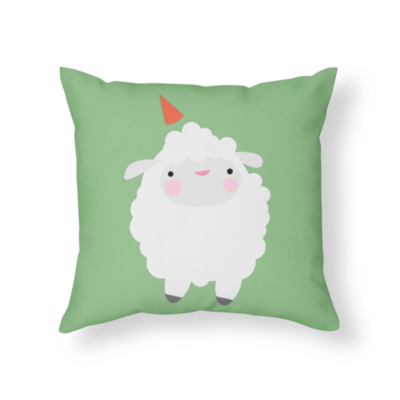 Party Lamb Home Throw Pillow by Ginger's Shop