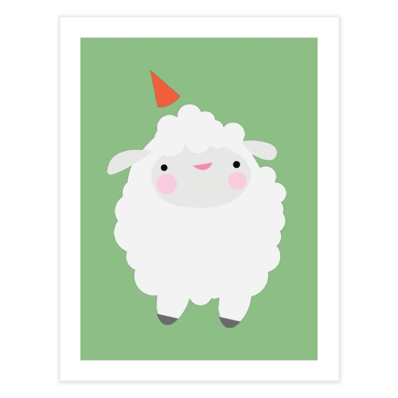 Party Lamb Home Fine Art Print by Ginger's Shop