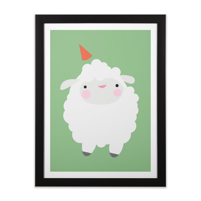 Party Lamb Home Framed Fine Art Print by Ginger's Shop