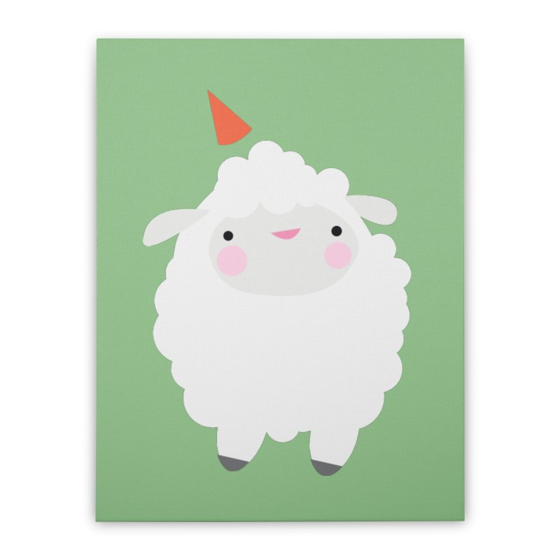 Party Lamb Home Stretched Canvas by Ginger's Shop