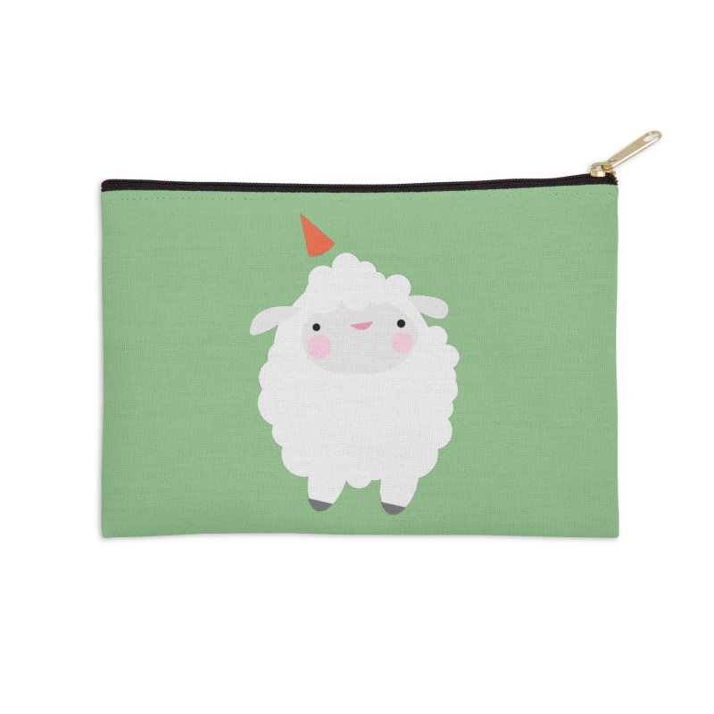 Party Lamb Accessories Zip Pouch by Ginger's Shop