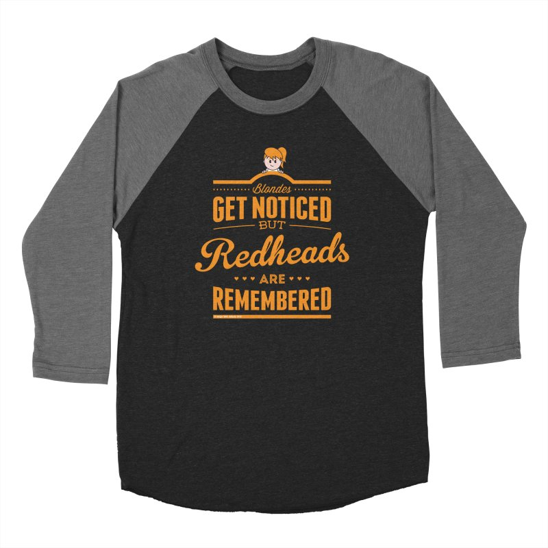 RemembeRED Women's Baseball Triblend Longsleeve T-Shirt by Ginger With Attitude's Artist Shop