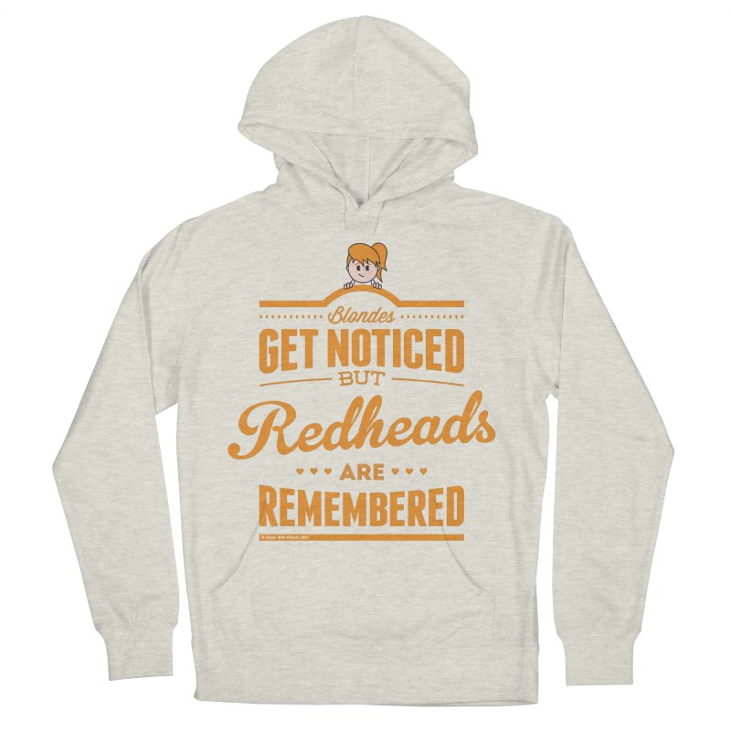 RemembeRED in Women's French Terry Pullover Hoody Heather Oatmeal by Ginger With Attitude's Artist Shop