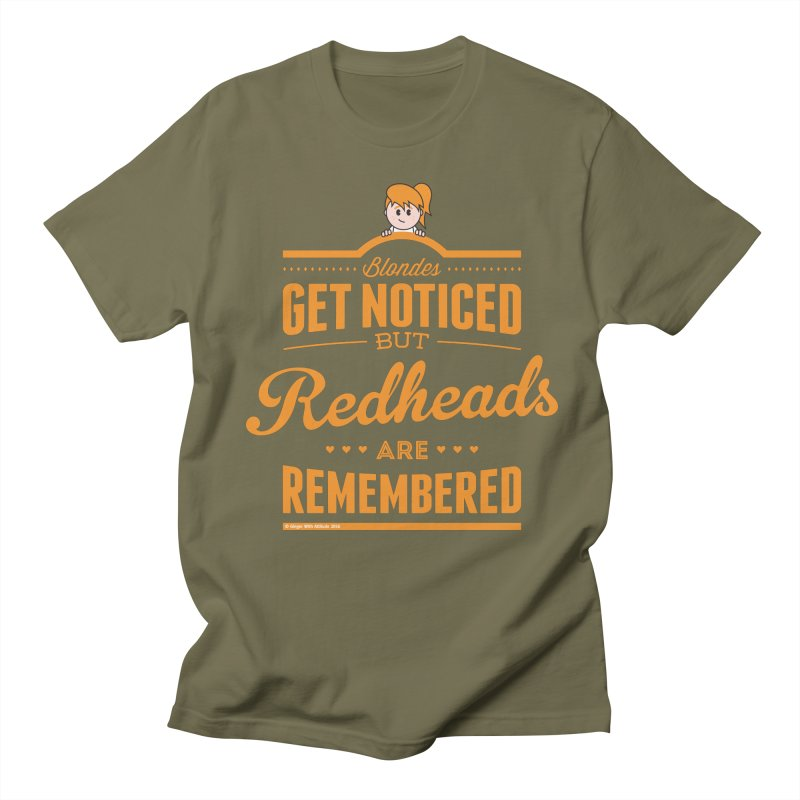 RemembeRED Men's Regular T-Shirt by Ginger With Attitude's Artist Shop