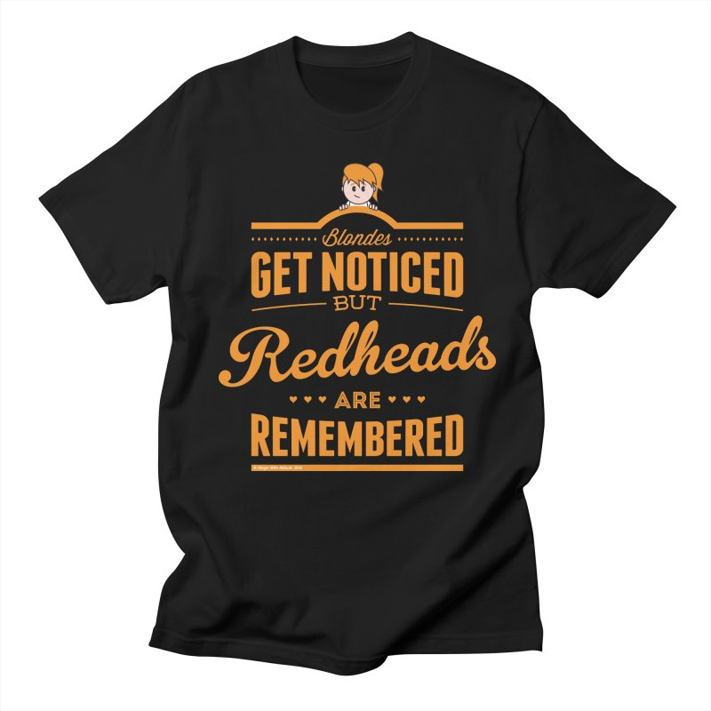 RemembeRED Women's Regular Unisex T-Shirt by Ginger With Attitude's Artist Shop