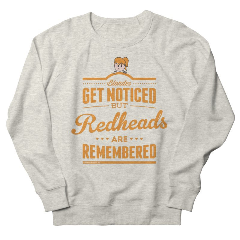 RemembeRED Women's French Terry Sweatshirt by Ginger With Attitude's Artist Shop