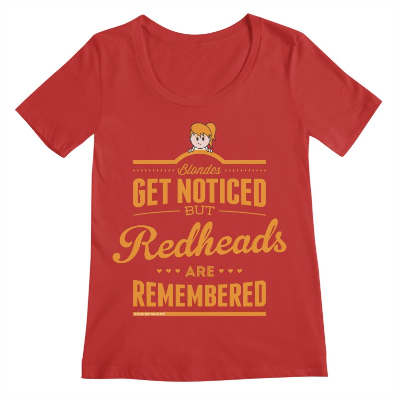 RemembeRED Women's Regular Scoop Neck by Ginger With Attitude's Artist Shop