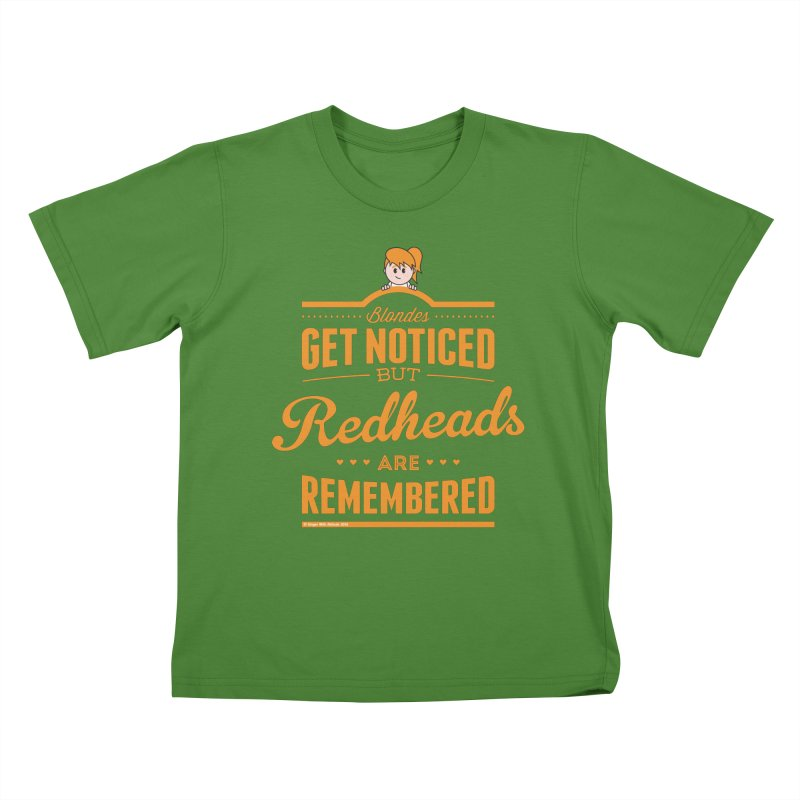 RemembeRED Kids T-shirt by Ginger With Attitude's Artist Shop