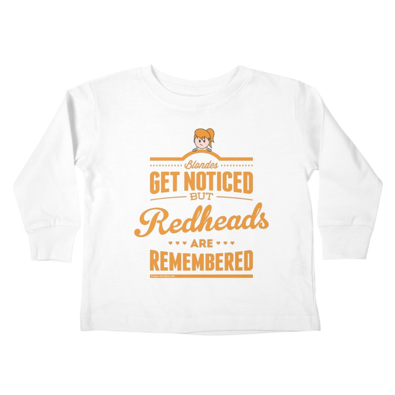 RemembeRED Kids Toddler Longsleeve T-Shirt by Ginger With Attitude's Artist Shop