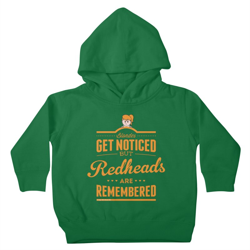 RemembeRED Kids Toddler Pullover Hoody by Ginger With Attitude's Artist Shop