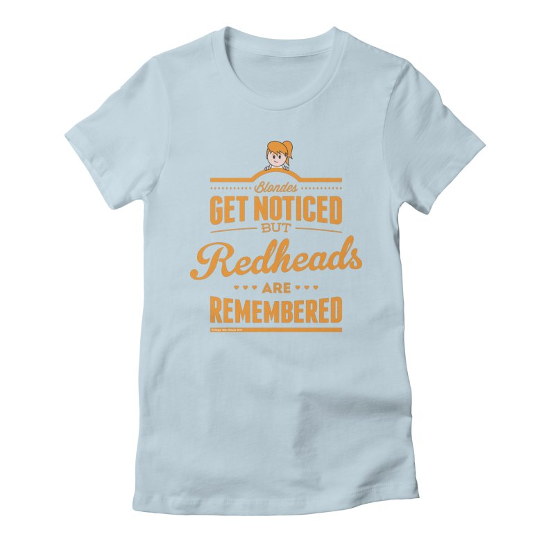 RemembeRED Women's Fitted T-Shirt by Ginger With Attitude's Artist Shop