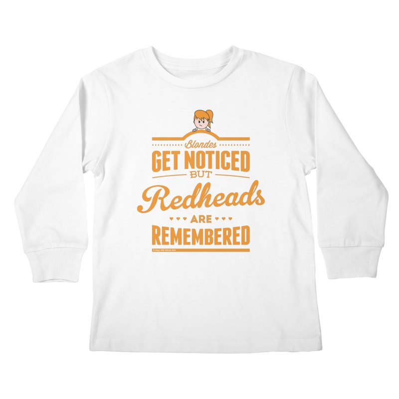RemembeRED Kids Longsleeve T-Shirt by Ginger With Attitude's Artist Shop