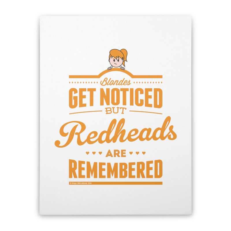 RemembeRED Home Stretched Canvas by Ginger With Attitude's Artist Shop
