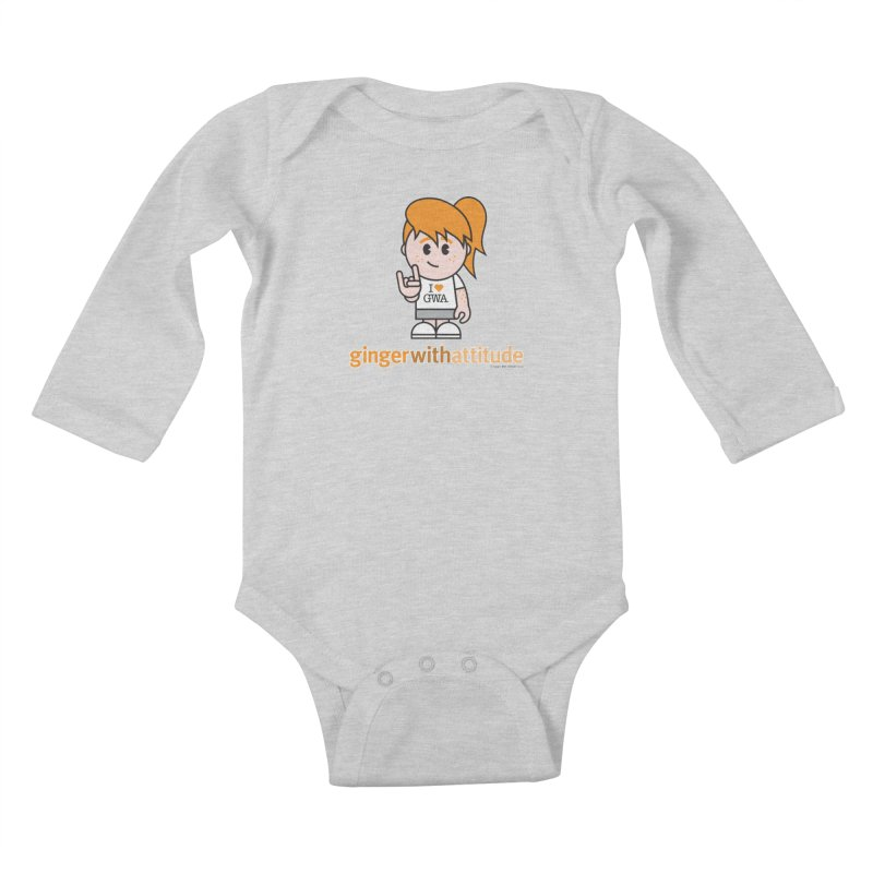 Original Girl GWA Kids Baby Longsleeve Bodysuit by Ginger With Attitude's Artist Shop