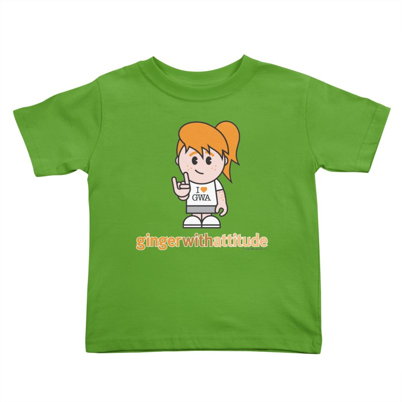 Original Girl GWA Kids Toddler T-Shirt by Ginger With Attitude's Artist Shop