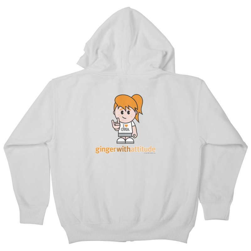 Original Girl GWA Kids Zip-Up Hoody by Ginger With Attitude's Artist Shop