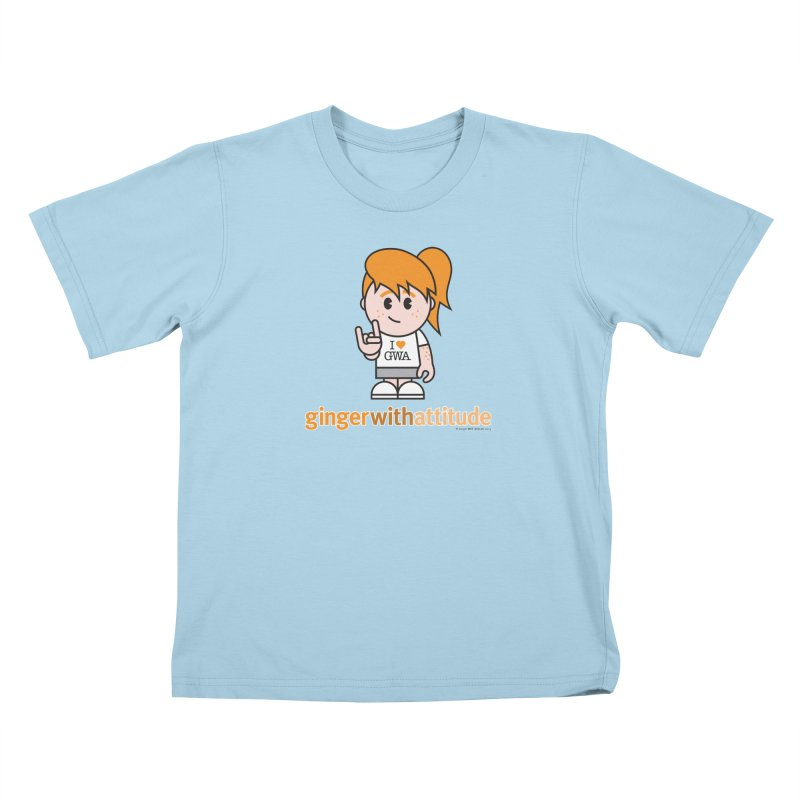 Original Girl GWA Kids T-Shirt by Ginger With Attitude's Artist Shop