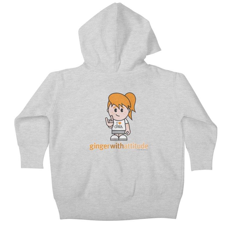 Original Girl GWA Kids Baby Zip-Up Hoody by Ginger With Attitude's Artist Shop