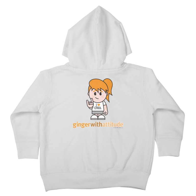 Original Girl GWA Kids Toddler Zip-Up Hoody by Ginger With Attitude's Artist Shop