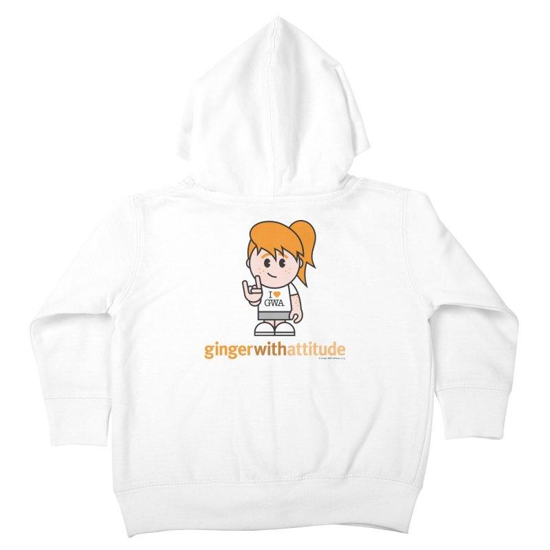 Original Girl GWA Kids Toddler Zip-Up Hoody by Ginger With Attitude's Artist Shop