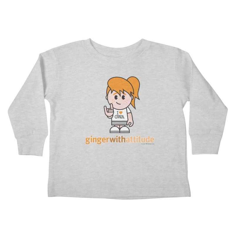 Original Girl GWA Kids Toddler Longsleeve T-Shirt by Ginger With Attitude's Artist Shop