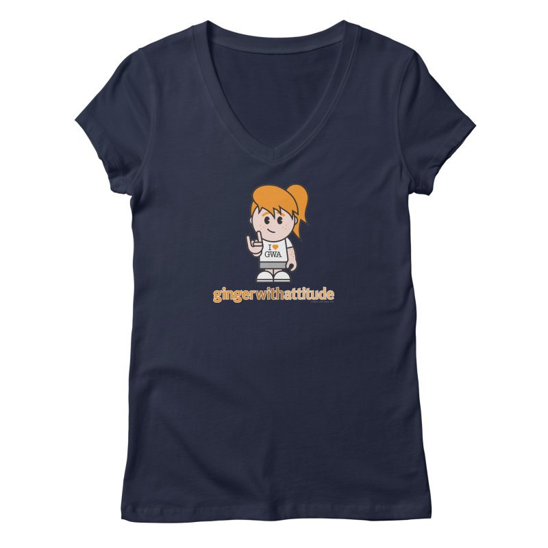 Original Girl GWA Women's Regular V-Neck by Ginger With Attitude's Artist Shop