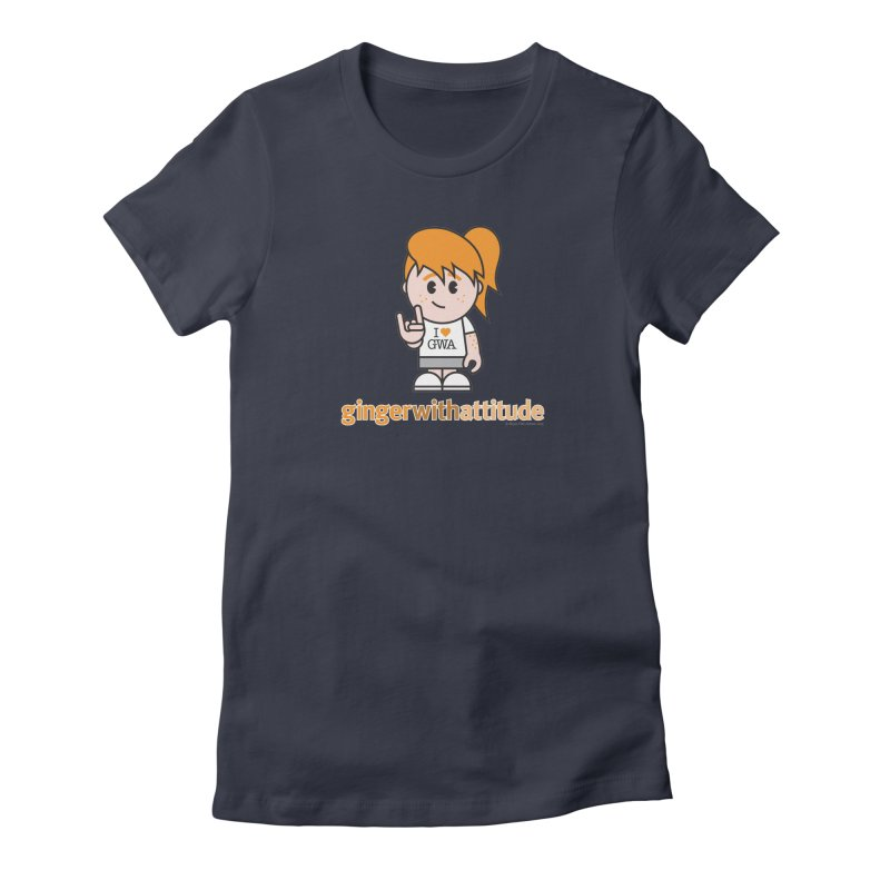 Original Girl GWA Women's Fitted T-Shirt by Ginger With Attitude's Artist Shop