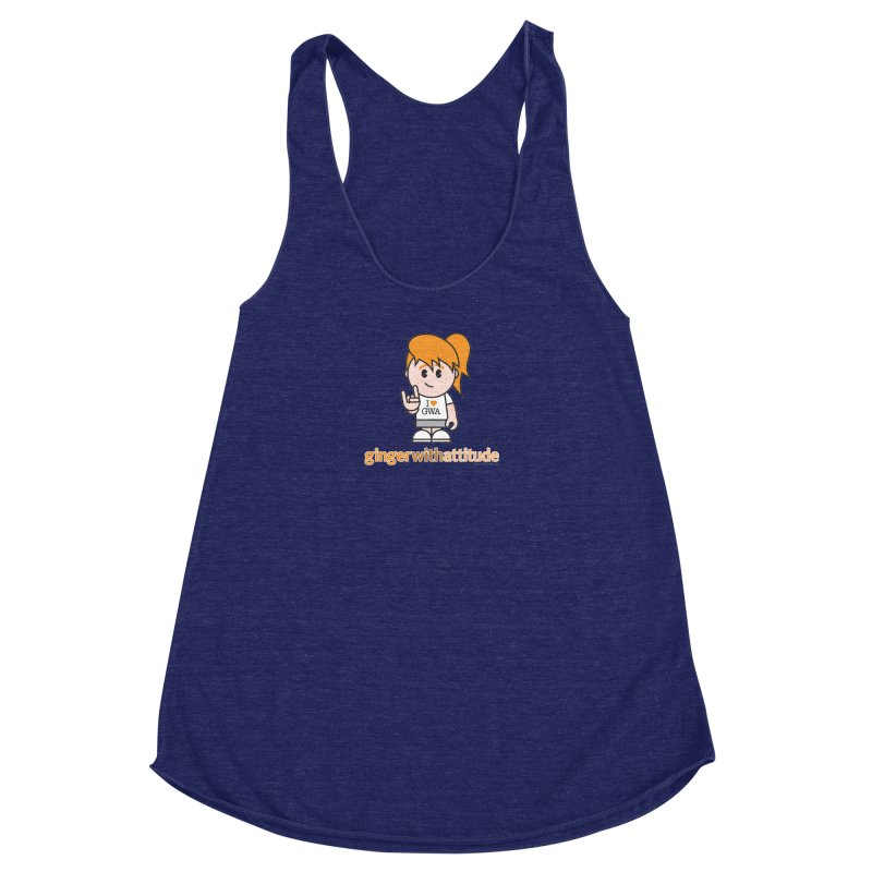 Original Girl GWA Women's Racerback Triblend Tank by Ginger With Attitude's Artist Shop