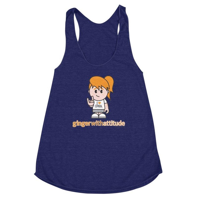 Original Girl GWA Women's Racerback Triblend Tank by Ginger With Attitude's Artist Shop