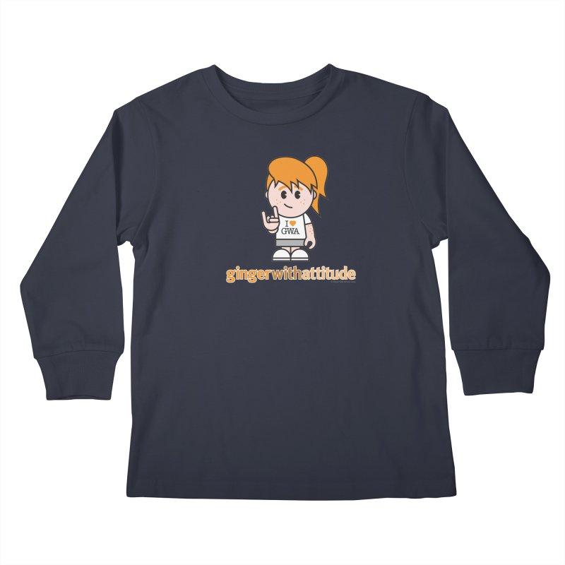 Original Girl GWA Kids Longsleeve T-Shirt by Ginger With Attitude's Artist Shop