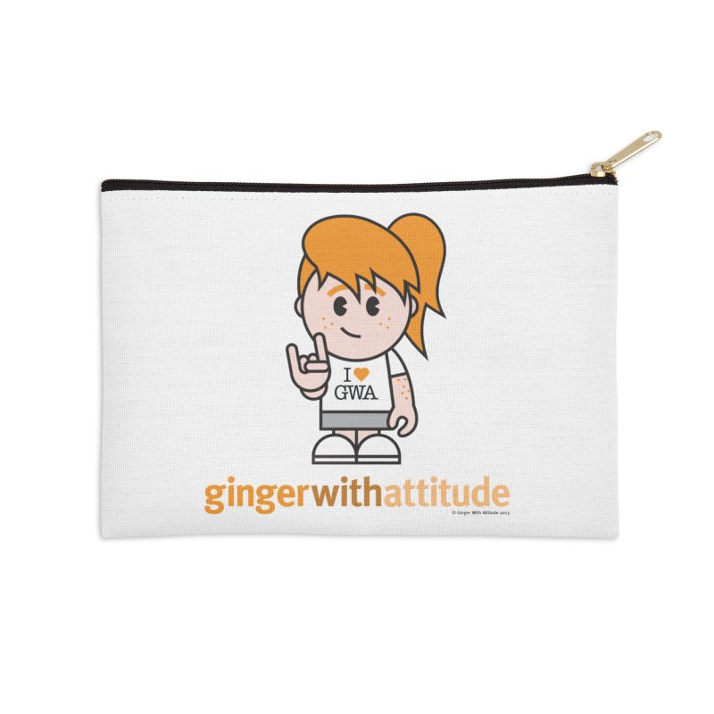 Original Girl GWA Accessories Zip Pouch by Ginger With Attitude's Artist Shop