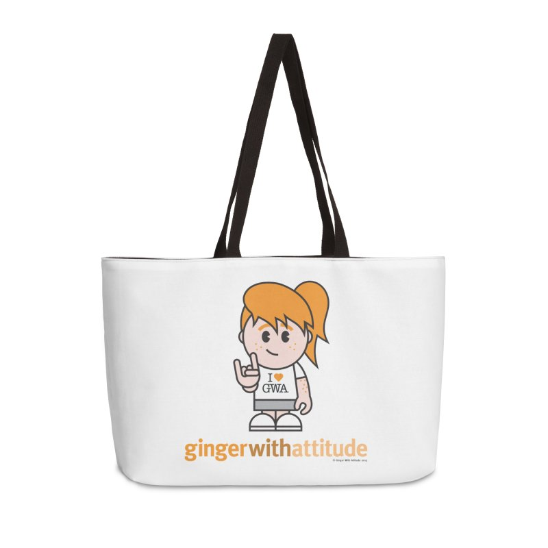 Original Girl GWA Accessories Weekender Bag Bag by Ginger With Attitude's Artist Shop