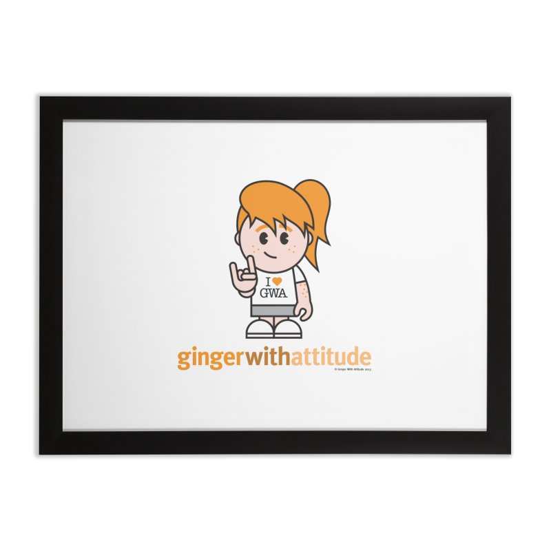 Original Girl GWA Home Framed Fine Art Print by Ginger With Attitude's Artist Shop