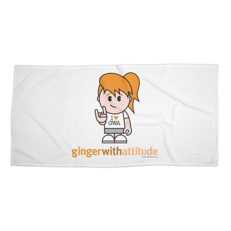 Original Girl GWA Accessories Beach Towel by Ginger With Attitude's Artist Shop