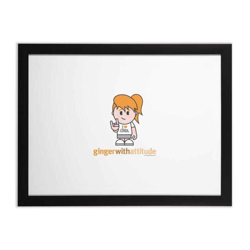 Original Girl GWA Home Framed Fine Art Print by Ginger With Attitude's Artist Shop
