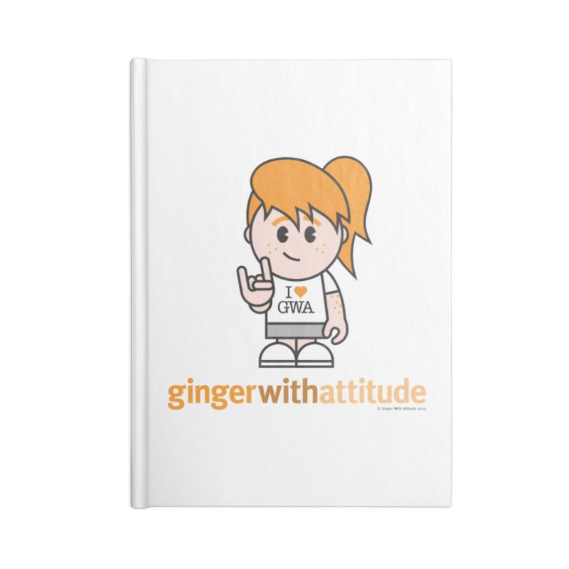 Original Girl GWA Accessories Blank Journal Notebook by Ginger With Attitude's Artist Shop