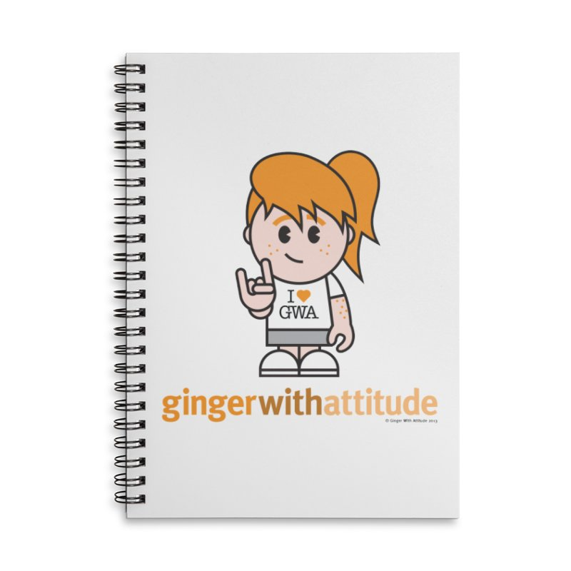 Original Girl GWA Accessories Lined Spiral Notebook by Ginger With Attitude's Artist Shop