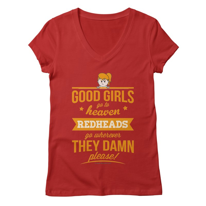 Good Girls Women's V-Neck by Ginger With Attitude's Artist Shop