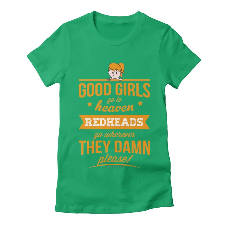 Good Girls Women's Fitted T-Shirt by Ginger With Attitude's Artist Shop
