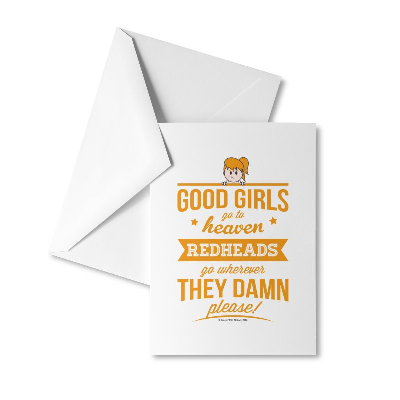 Good Girls Accessories Greeting Card by Ginger With Attitude's Artist Shop