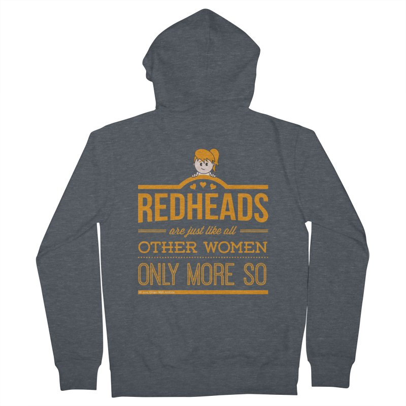 More So Men's Zip-Up Hoody by Ginger With Attitude's Artist Shop