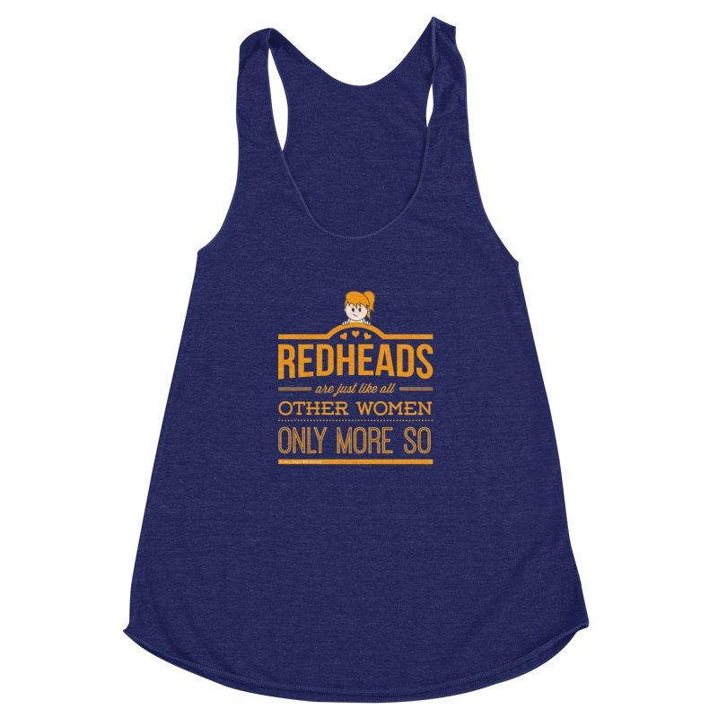 More So Women's Racerback Triblend Tank by Ginger With Attitude's Artist Shop